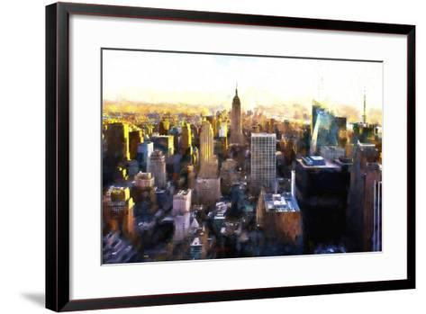 Manhattan Cityscape III-Philippe Hugonnard-Framed Art Print