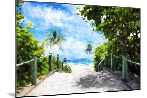White Sand Beach - In the Style of Oil Painting-Philippe Hugonnard-Mounted Giclee Print