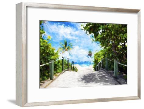 White Sand Beach - In the Style of Oil Painting-Philippe Hugonnard-Framed Art Print