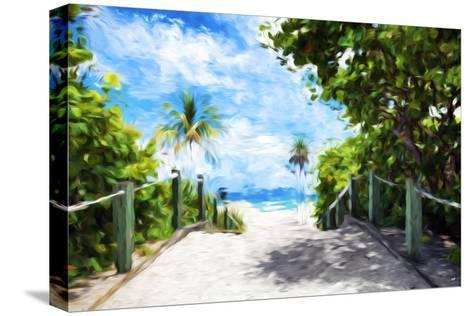 White Sand Beach - In the Style of Oil Painting-Philippe Hugonnard-Stretched Canvas Print