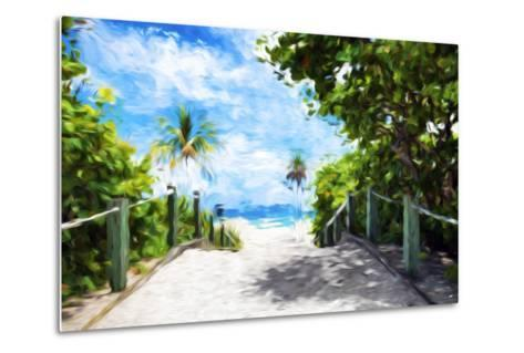 White Sand Beach - In the Style of Oil Painting-Philippe Hugonnard-Metal Print