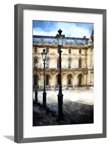 Street Royal Lamps Le Louvre-Philippe Hugonnard-Framed Art Print