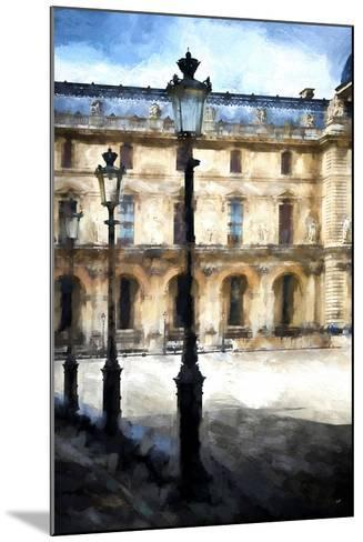 Street Royal Lamps Le Louvre-Philippe Hugonnard-Mounted Giclee Print