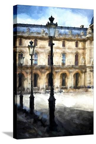 Street Royal Lamps Le Louvre-Philippe Hugonnard-Stretched Canvas Print