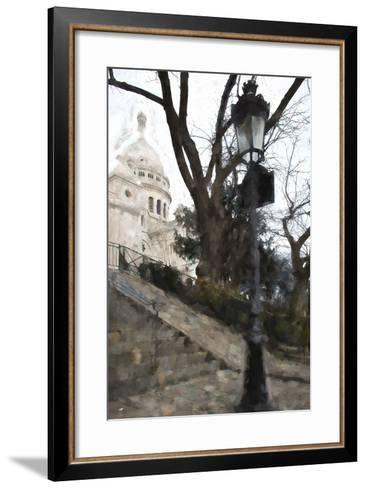 The steps of the Basilica in Montmartre-Philippe Hugonnard-Framed Art Print