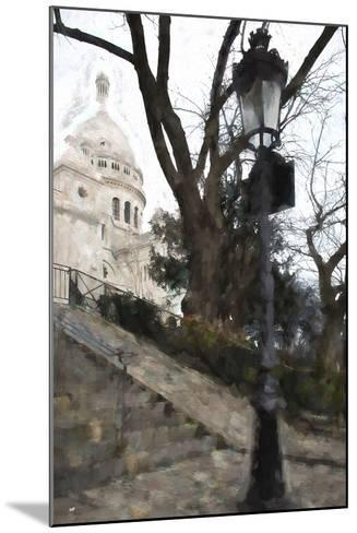 The steps of the Basilica in Montmartre-Philippe Hugonnard-Mounted Giclee Print