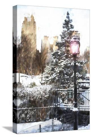 Central Park in Winter-Philippe Hugonnard-Stretched Canvas Print