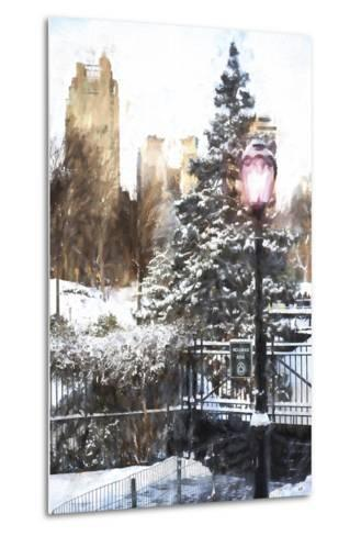 Central Park in Winter-Philippe Hugonnard-Metal Print