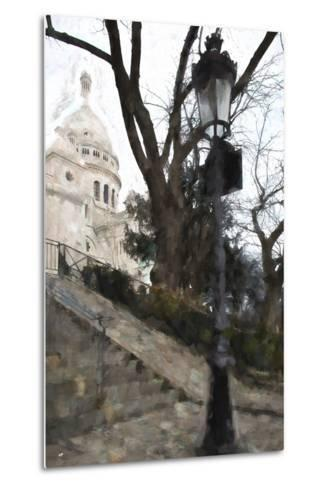 The steps of the Basilica in Montmartre-Philippe Hugonnard-Metal Print