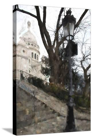 The steps of the Basilica in Montmartre-Philippe Hugonnard-Stretched Canvas Print