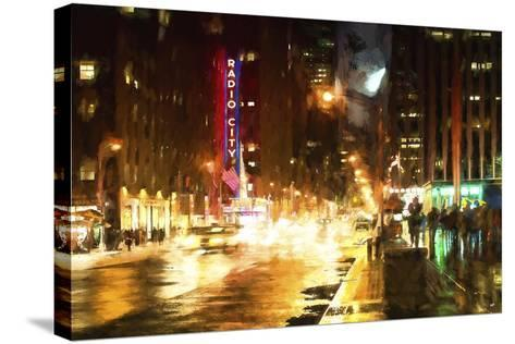 Avenue of the Americas by Night-Philippe Hugonnard-Stretched Canvas Print