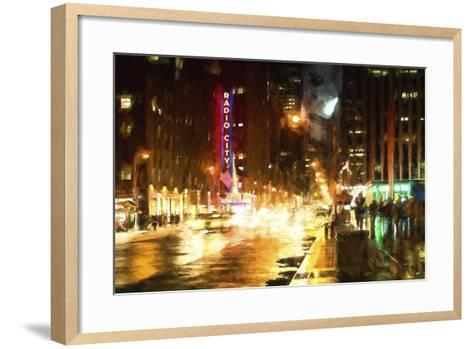 Avenue of the Americas by Night-Philippe Hugonnard-Framed Art Print