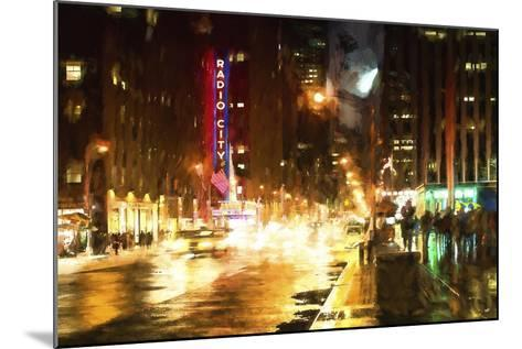 Avenue of the Americas by Night-Philippe Hugonnard-Mounted Giclee Print