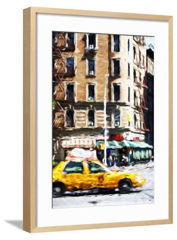 Taxi Driver - In the Style of Oil Painting-Philippe Hugonnard-Framed Art Print