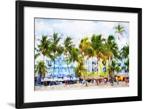 Ocean Drive Beach II - In the Style of Oil Painting-Philippe Hugonnard-Framed Art Print