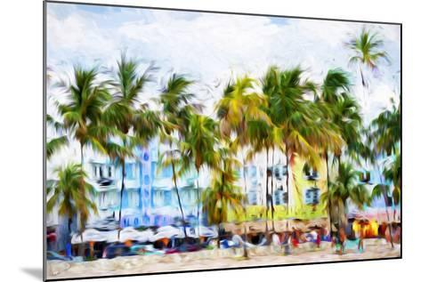 Ocean Drive Beach II - In the Style of Oil Painting-Philippe Hugonnard-Mounted Giclee Print