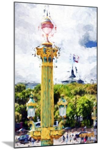Paris Architecture II - In the Style of Oil Painting-Philippe Hugonnard-Mounted Giclee Print