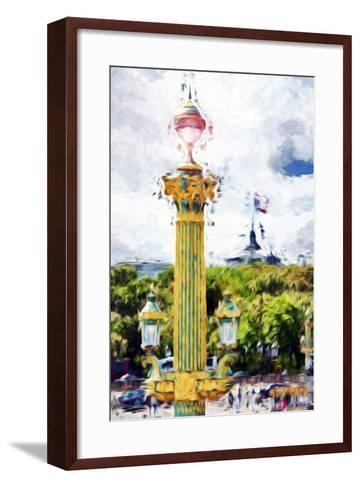 Paris Architecture II - In the Style of Oil Painting-Philippe Hugonnard-Framed Art Print