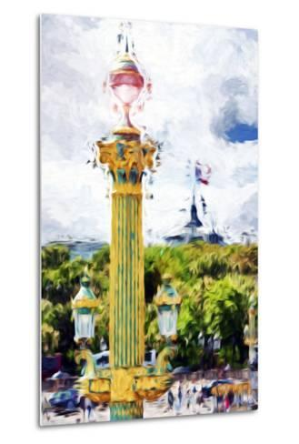 Paris Architecture II - In the Style of Oil Painting-Philippe Hugonnard-Metal Print
