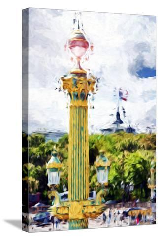 Paris Architecture II - In the Style of Oil Painting-Philippe Hugonnard-Stretched Canvas Print