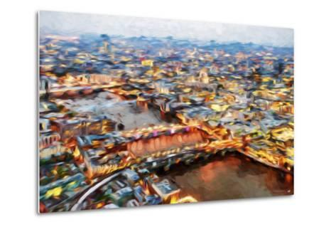 London Cityscape I - In the Style of Oil Painting-Philippe Hugonnard-Metal Print