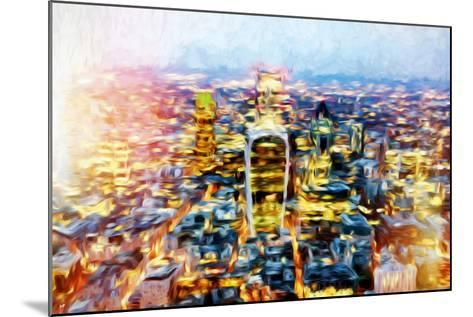 London Cityscape II - In the Style of Oil Painting-Philippe Hugonnard-Mounted Giclee Print