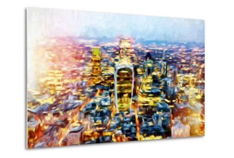 London Cityscape II - In the Style of Oil Painting-Philippe Hugonnard-Metal Print