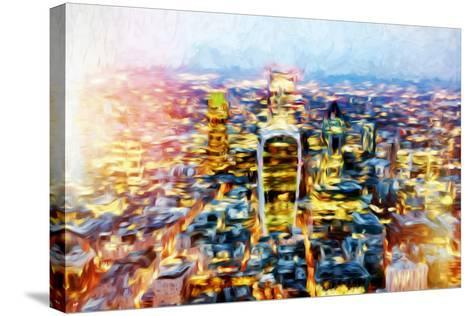 London Cityscape II - In the Style of Oil Painting-Philippe Hugonnard-Stretched Canvas Print