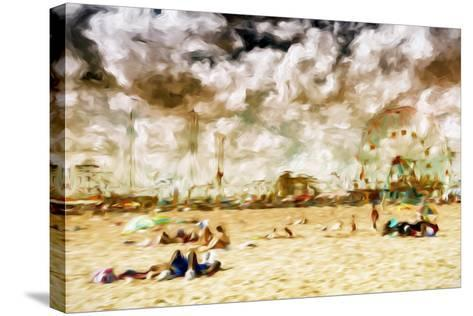 Afternoon Coney Island - In the Style of Oil Painting-Philippe Hugonnard-Stretched Canvas Print