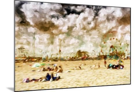 Afternoon Coney Island - In the Style of Oil Painting-Philippe Hugonnard-Mounted Giclee Print