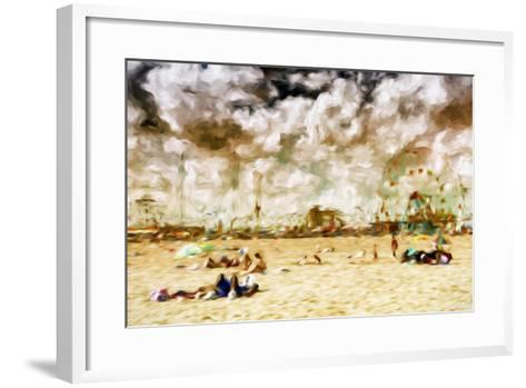 Afternoon Coney Island - In the Style of Oil Painting-Philippe Hugonnard-Framed Art Print