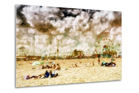 Afternoon Coney Island - In the Style of Oil Painting-Philippe Hugonnard-Metal Print