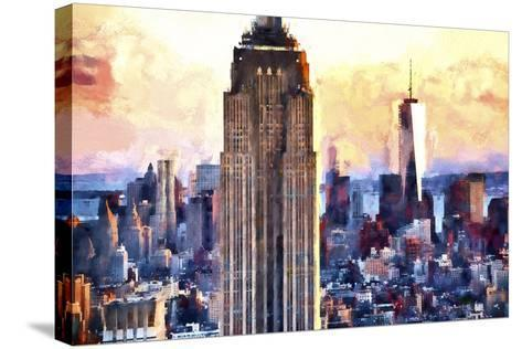 Empire State & 1 World Trade-Philippe Hugonnard-Stretched Canvas Print