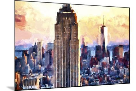 Empire State & 1 World Trade-Philippe Hugonnard-Mounted Giclee Print