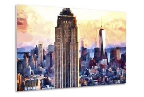 Empire State & 1 World Trade-Philippe Hugonnard-Metal Print