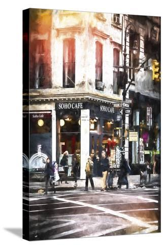 Soho Cafe-Philippe Hugonnard-Stretched Canvas Print