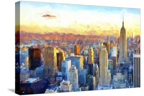 New York View-Philippe Hugonnard-Stretched Canvas Print