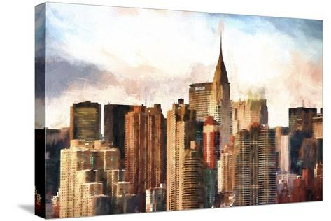 New York Skyscrapers-Philippe Hugonnard-Stretched Canvas Print