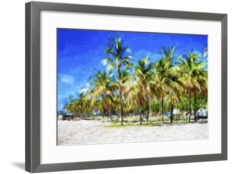 Miami Beach II - In the Style of Oil Painting-Philippe Hugonnard-Framed Art Print