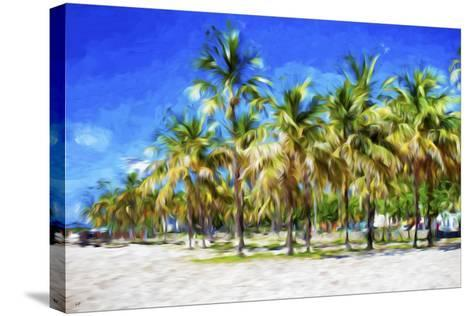 Miami Beach II - In the Style of Oil Painting-Philippe Hugonnard-Stretched Canvas Print