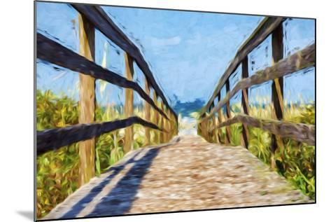 Way to the Beach II - In the Style of Oil Painting-Philippe Hugonnard-Mounted Giclee Print