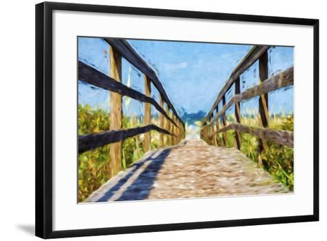 Way to the Beach II - In the Style of Oil Painting-Philippe Hugonnard-Framed Art Print