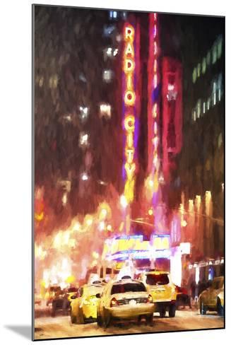 Radio City Taxis-Philippe Hugonnard-Mounted Giclee Print