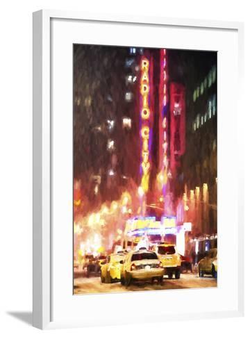 Radio City Taxis-Philippe Hugonnard-Framed Art Print