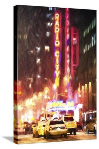 Radio City Taxis-Philippe Hugonnard-Stretched Canvas Print