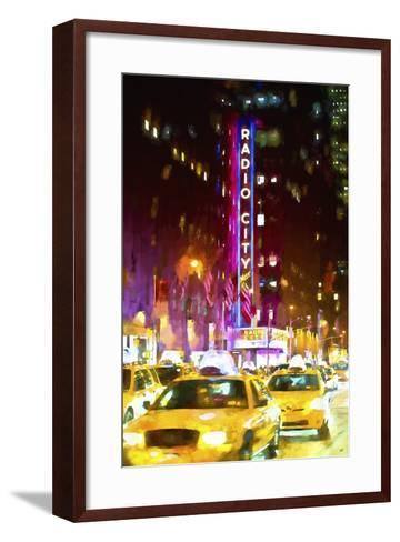 Manhattan City-Philippe Hugonnard-Framed Art Print