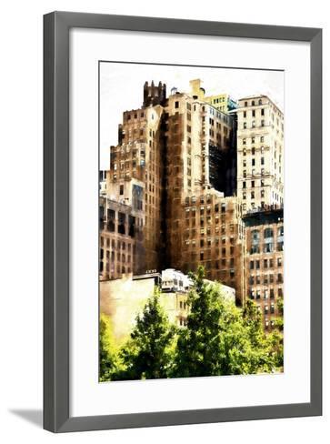 Manhattan Buildings IV-Philippe Hugonnard-Framed Art Print