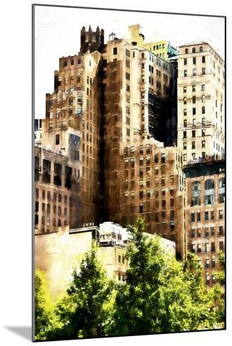 Manhattan Buildings IV-Philippe Hugonnard-Mounted Giclee Print