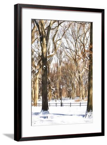 Snow in Central Park-Philippe Hugonnard-Framed Art Print