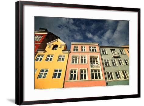Colourful Houses in Copenhagen, Europe-pink candy-Framed Art Print
